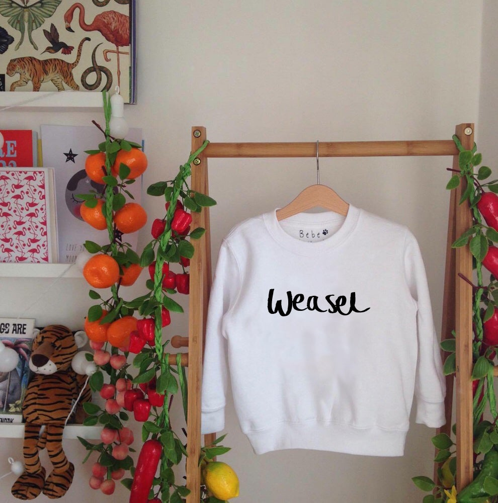 Image of weasel sweatshirt