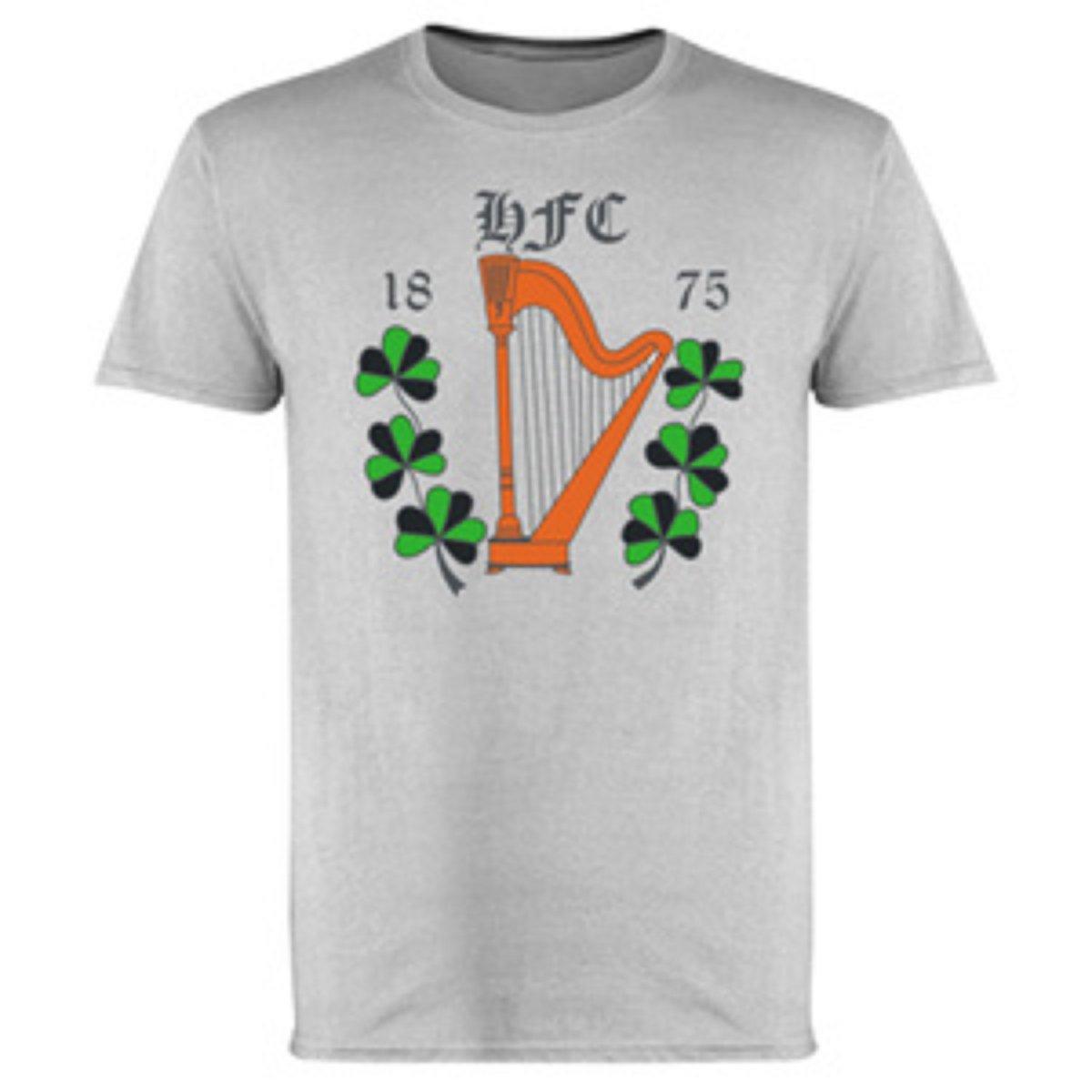 Hibs, Hibernian, HFC 1875 Harp & Shamrock T-shirts.