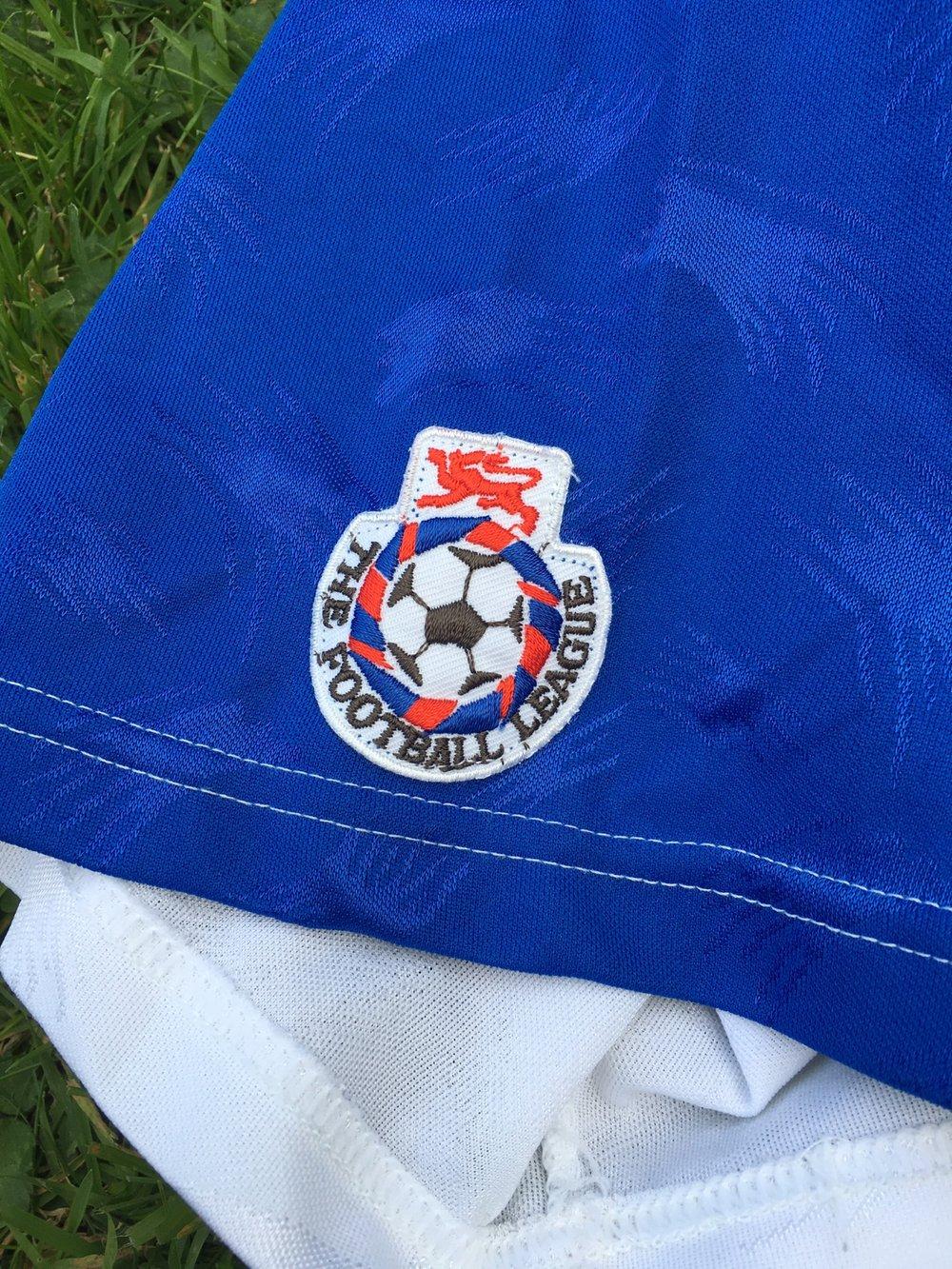 Match Worn 1990/91 Ribero Home Shirt