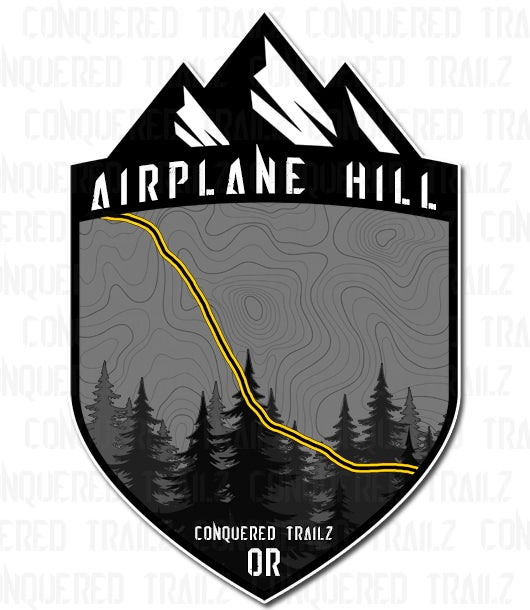 "Image of ""Airplane Hill"" Trail Badge"