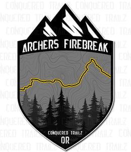 "Image of ""Archers Firebreak"" Trail Badge"