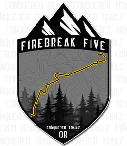 "Image of ""Firebreak Five"" Trail Badge"