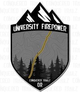 "Image of ""University Firepower"" Trail Badge"