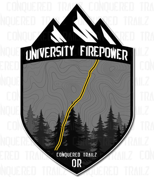 "Image of ""University Firepower"" Trail Badge"