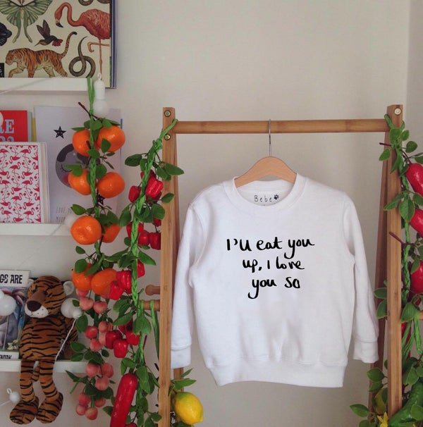 Image of eat you up sweatshirt/tee