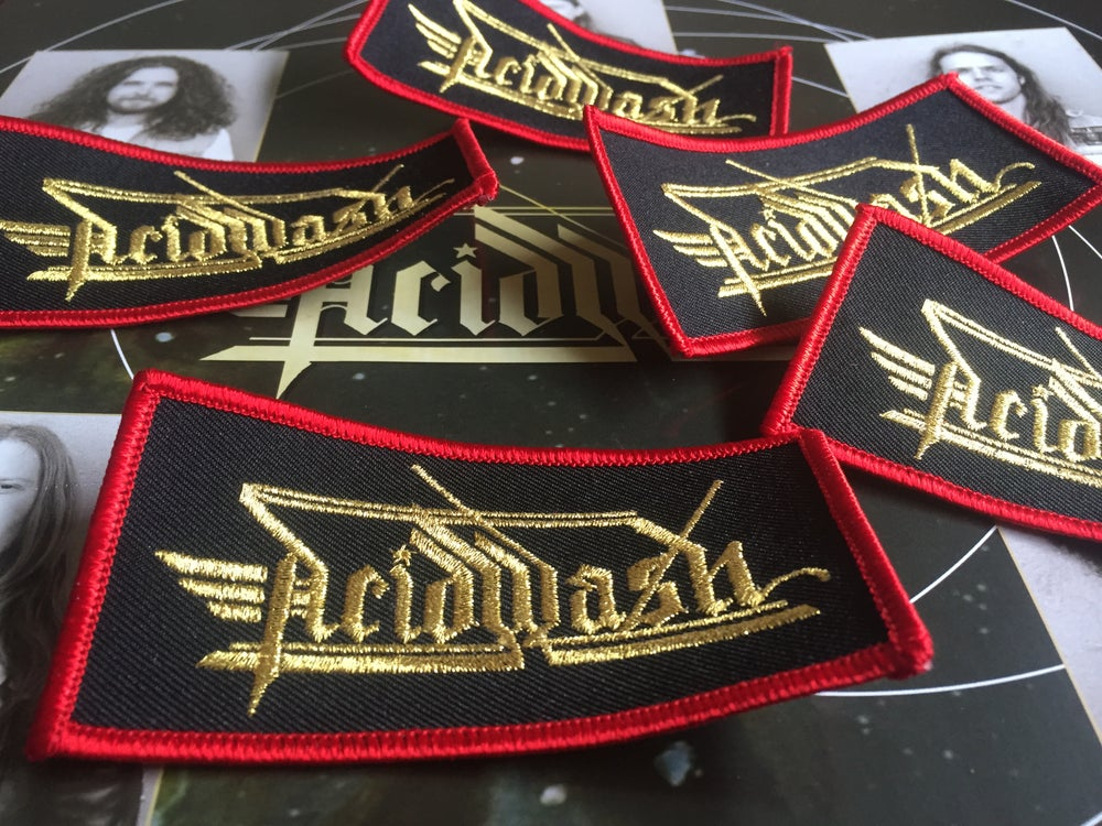 Image of Acid Wash logo embroidered patch