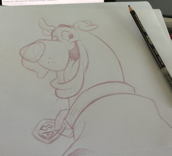 Image of Scooby Doo sketch