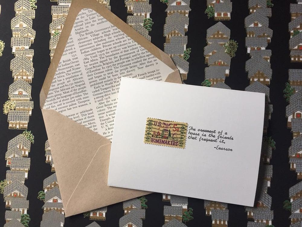 Image of Homemakers Vintage Postage Greeting Card