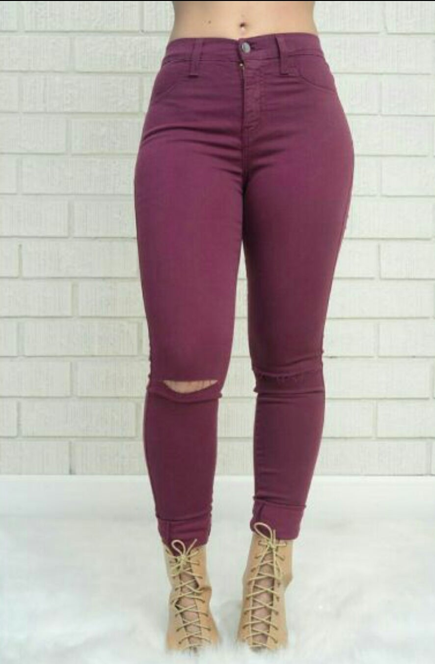 Image of Slit knee jeans (Sizes 8-13) (27-32)