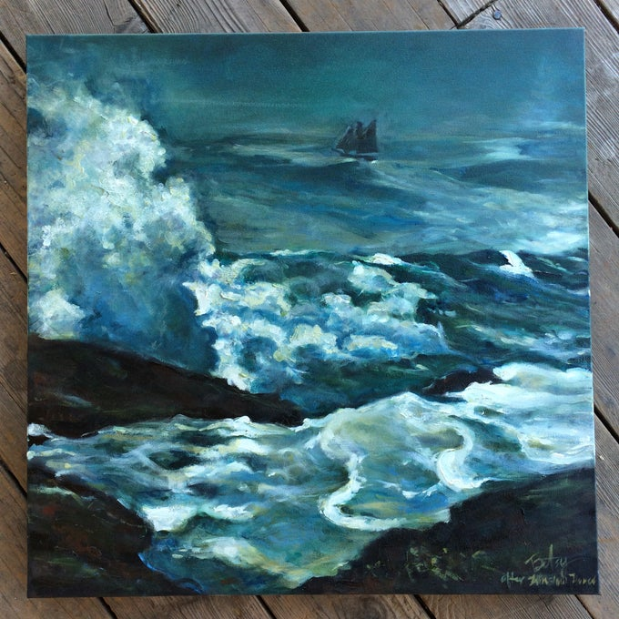 Image of Winslow Homer Seascape Duplication Oil Painting