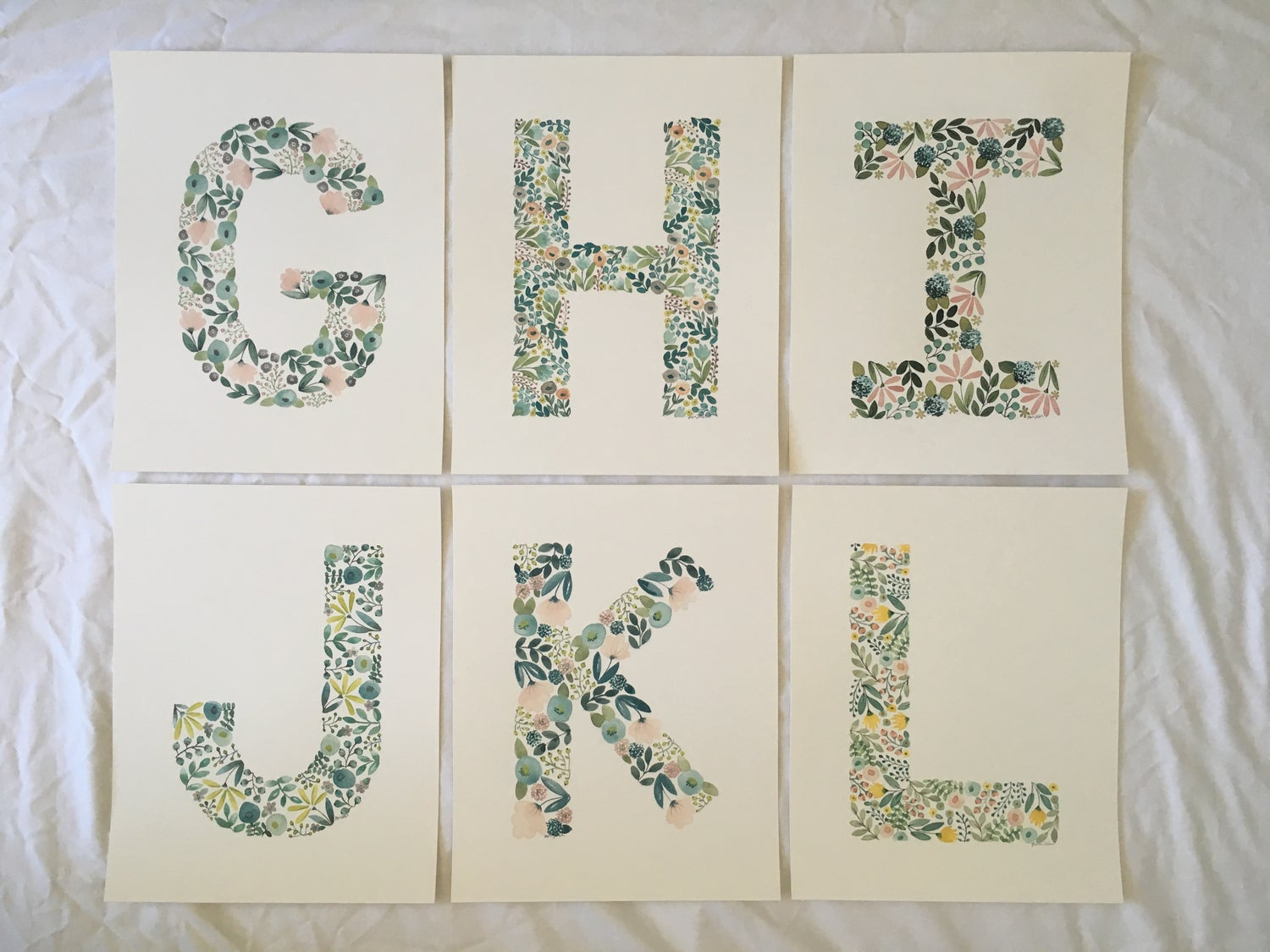 Image of Floral Letters  (More Options Available)