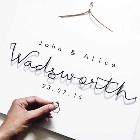 Image of Personalised Wire Wall Plaque