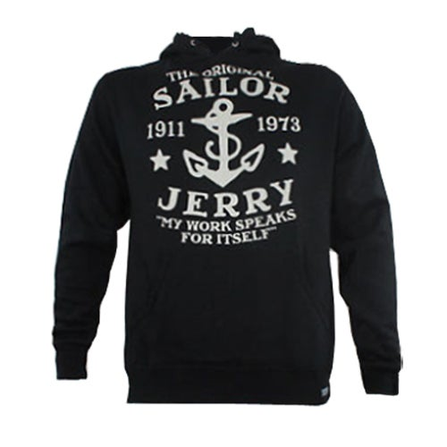Image of Sailor Jerry Men's 'My Work Speaks For Itself' Hoodie - Black
