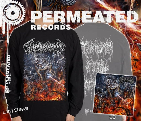 Image of Intricated - Vortex Of Fatal Depravity CD + Longsleeve Combo