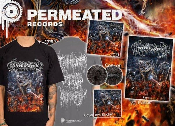Image of Intricated - Vortex Of Fatal Depravity CD + T-Shirt + Poster + Coster Combo