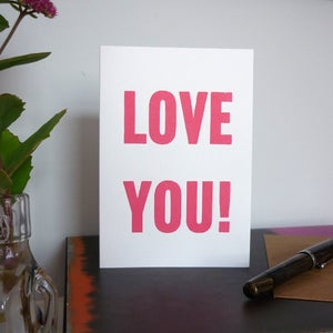 Image of Love You greeting card