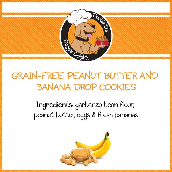 Image of Grain-Free Peanut Butter and Banana Drop Cookies