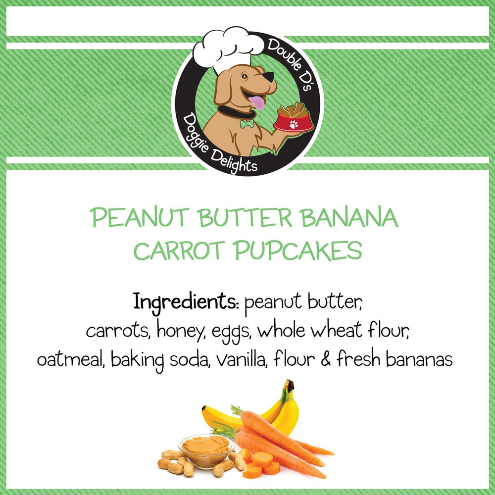 Image of Peanut Butter Banana Carrot Pupcakes
