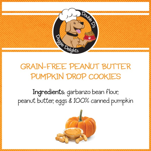 Image of Grain-Free Peanut Butter Pumpkin Drop Cookies