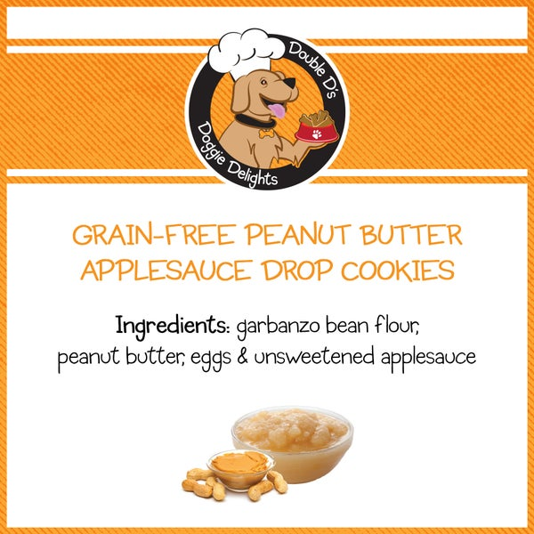 Image of Grain-Free Peanut Butter Applesauce Drop Cookies