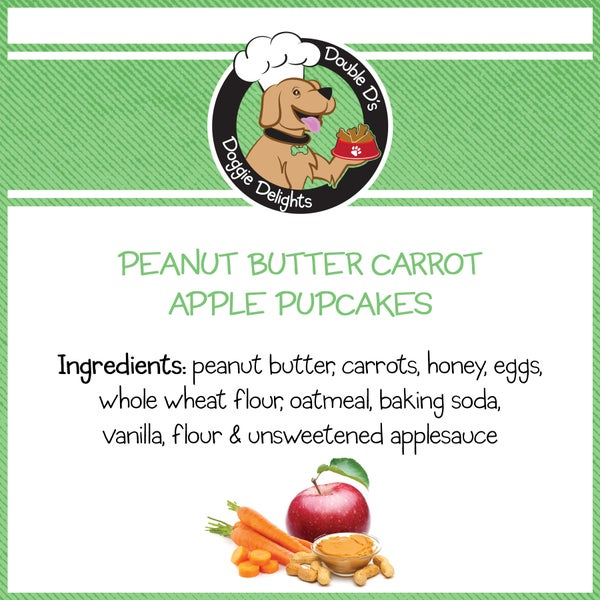 Image of Peanut Butter Carrot Apple Pupcakes