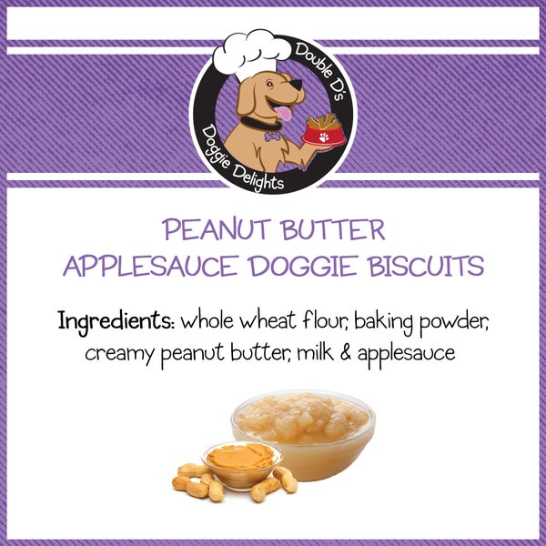 Image of Peanut Butter Applesauce Doggie Biscuits