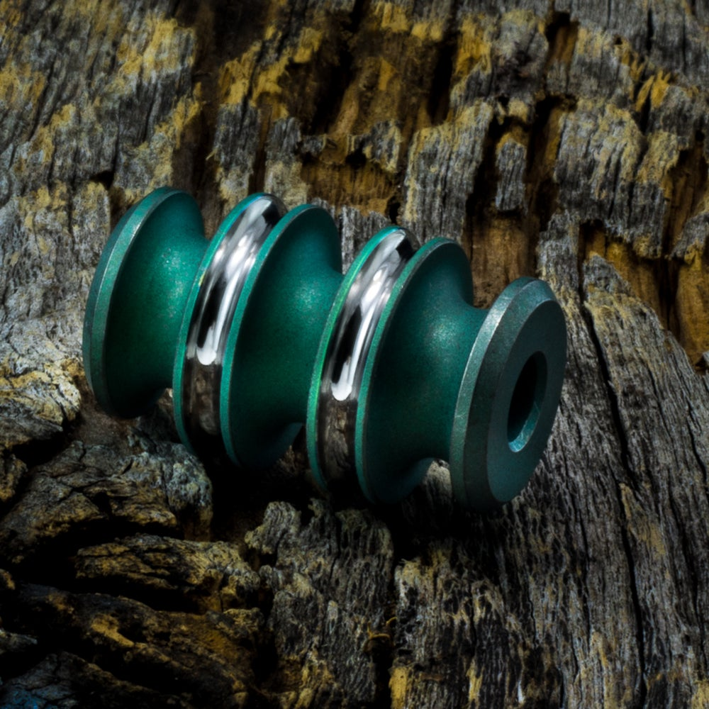 Image of Kraken Nuked Green & Polished bead #1