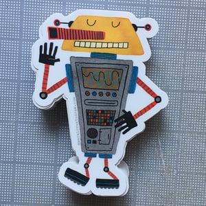 Image of die-cut robot sticker #03
