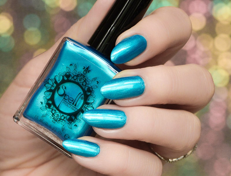 Image of ~The Edge of the Sky~ deep teal/turquoise/blue chrome nail polish!