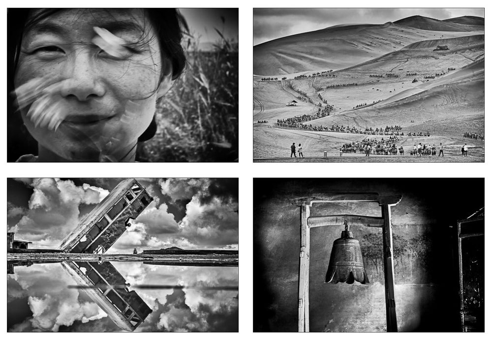 Image of NEW- SET OF 4 FRAMED 60x40cm PRINTS: Along the ancient silk road... China 2016