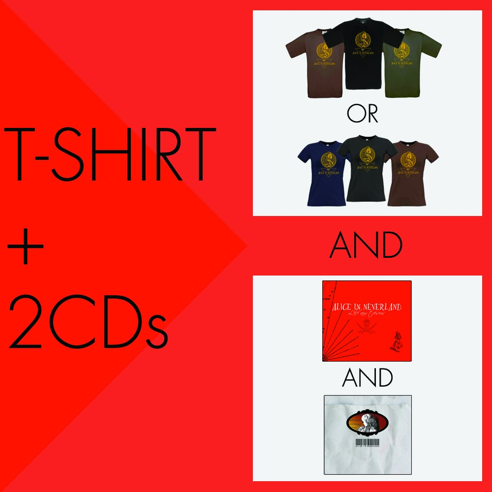 Image of Pack T-shirt + 2 CDs