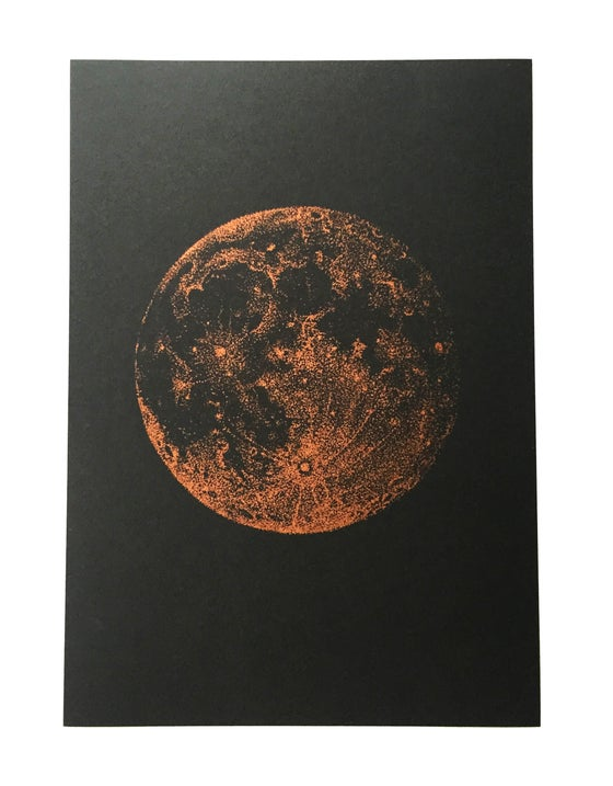 Image of Copper Full Moon - A4