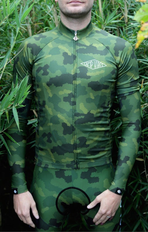 Image of Poler Green Furry Camo Skinsuit