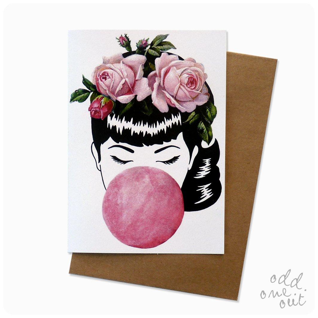 Image of Miss Bubblegum - Greeting Card