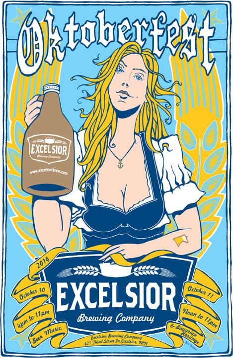 Image of Excelsior Oktoberfest Poster 2014