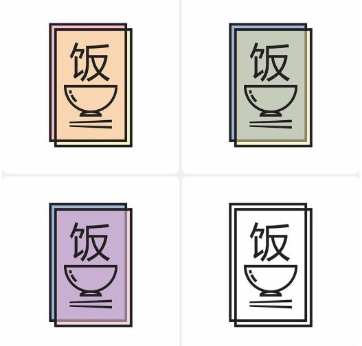Image of Rice Paper Logo Sticker Set