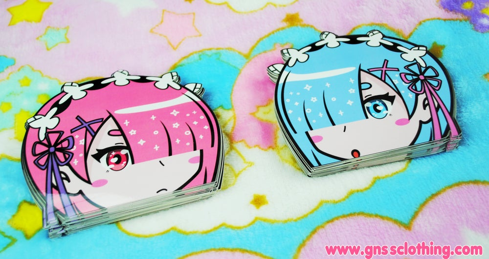 Image of Ram & Rem VINYL STICKER [LIMITED]