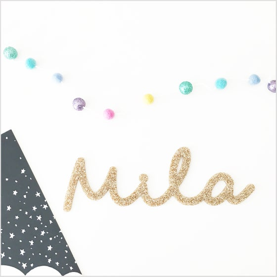Image of Custom Glitter Name Sign Small