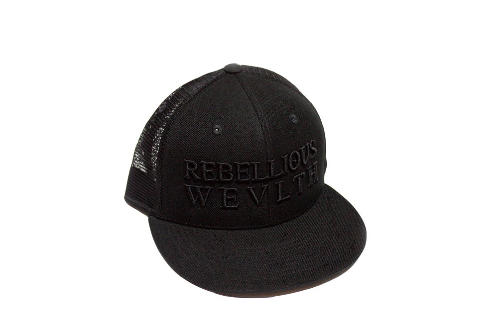 Image of RWLS Trucker Snapback Black/Black