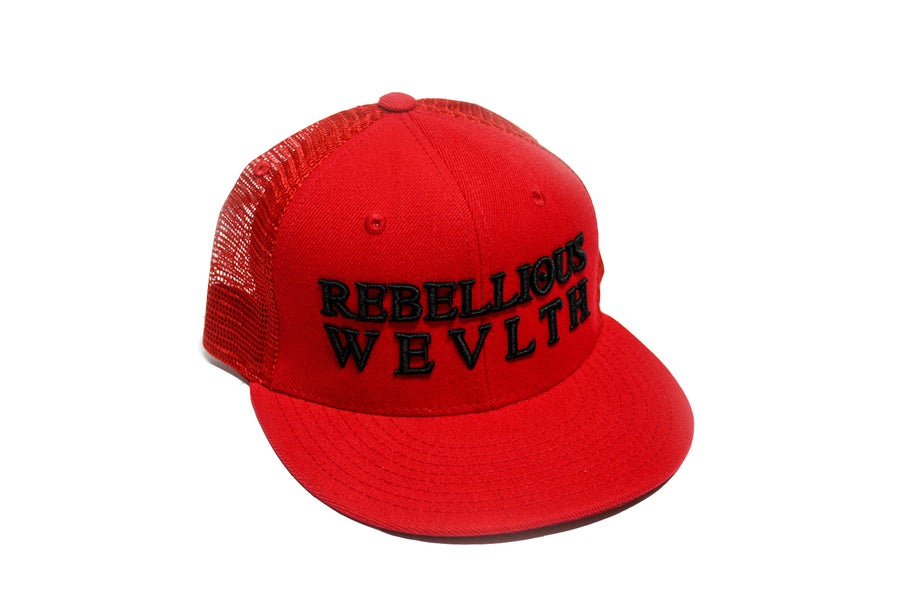 Image of RWLS Trucker Snapback Red/Black