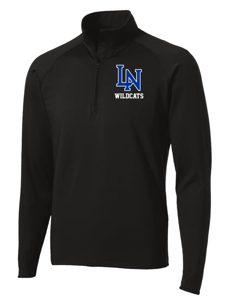 Image of Men's Sportwick Quarter Zip Pullover - Black