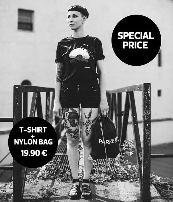 Image of T-Shirt Unisex + Nylon Bag