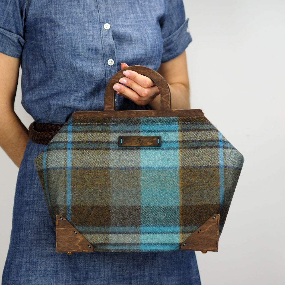 Image of Framed Handbag in Longleat Wool Plaid