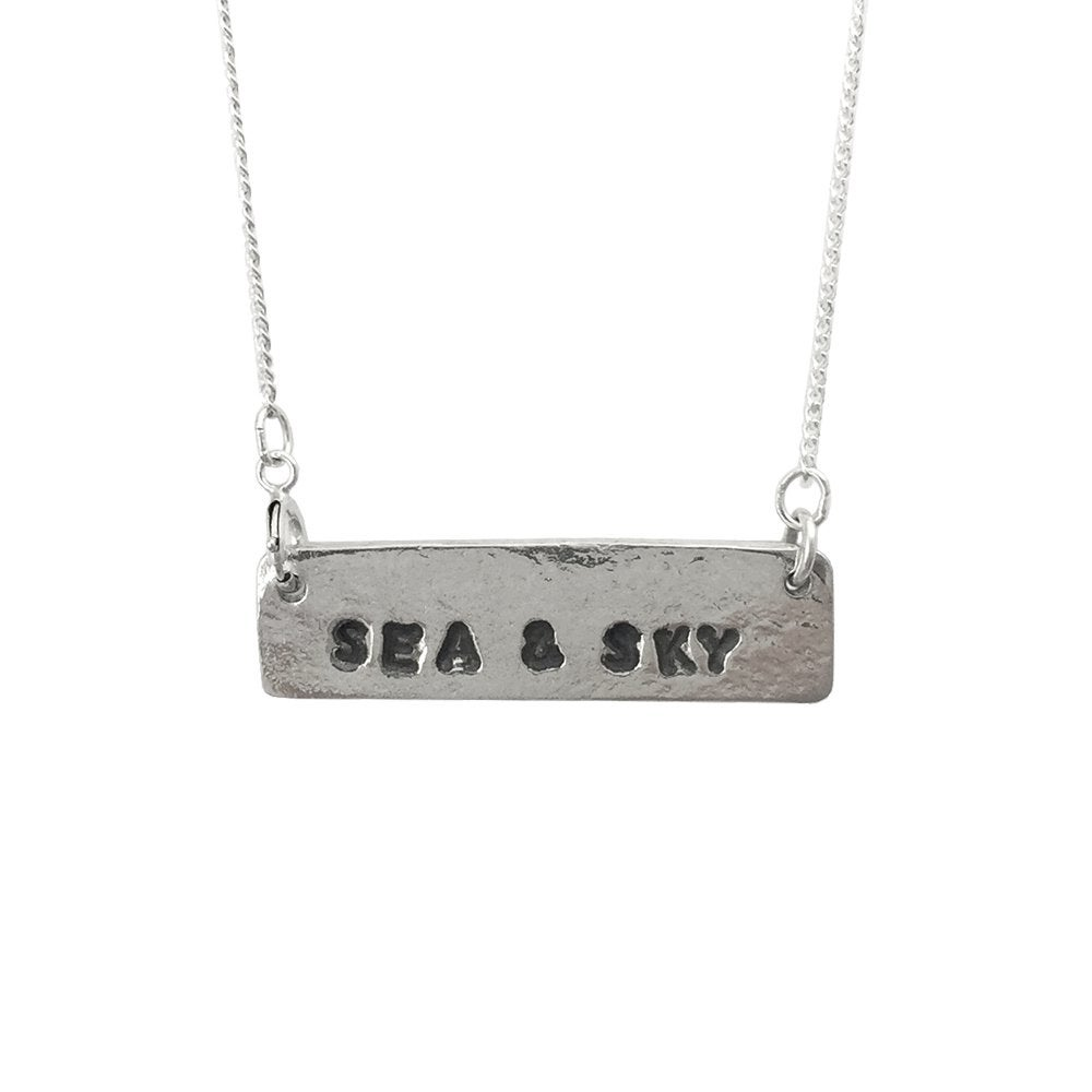 Image of Stamped Necklace Sea & Sky