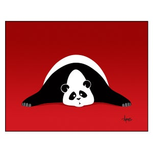 """Image of """"Panda Ker-Plop"""" Print"""