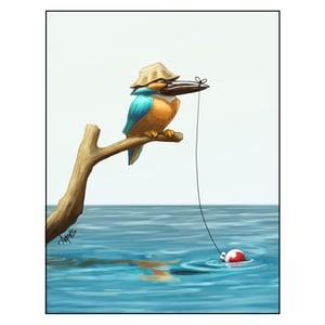 """Image of """"Gone Fishin'"""" Kingfisher Print"""