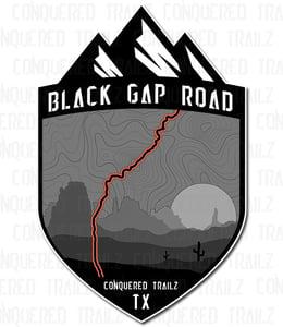 """Image of """"Black Gap Road"""" Trail Badge"""