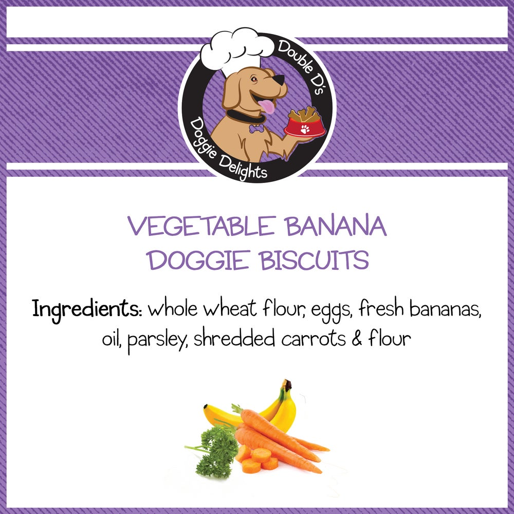Image of Vegetable Banana Doggie Biscuits