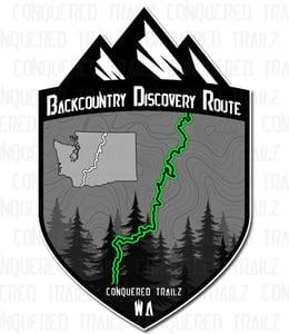 """Image of Washington """"Backcounrty Discovery Route"""" Badge"""