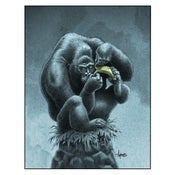 """Image of """"Be Strong, Be Brave"""" Gorilla Print"""